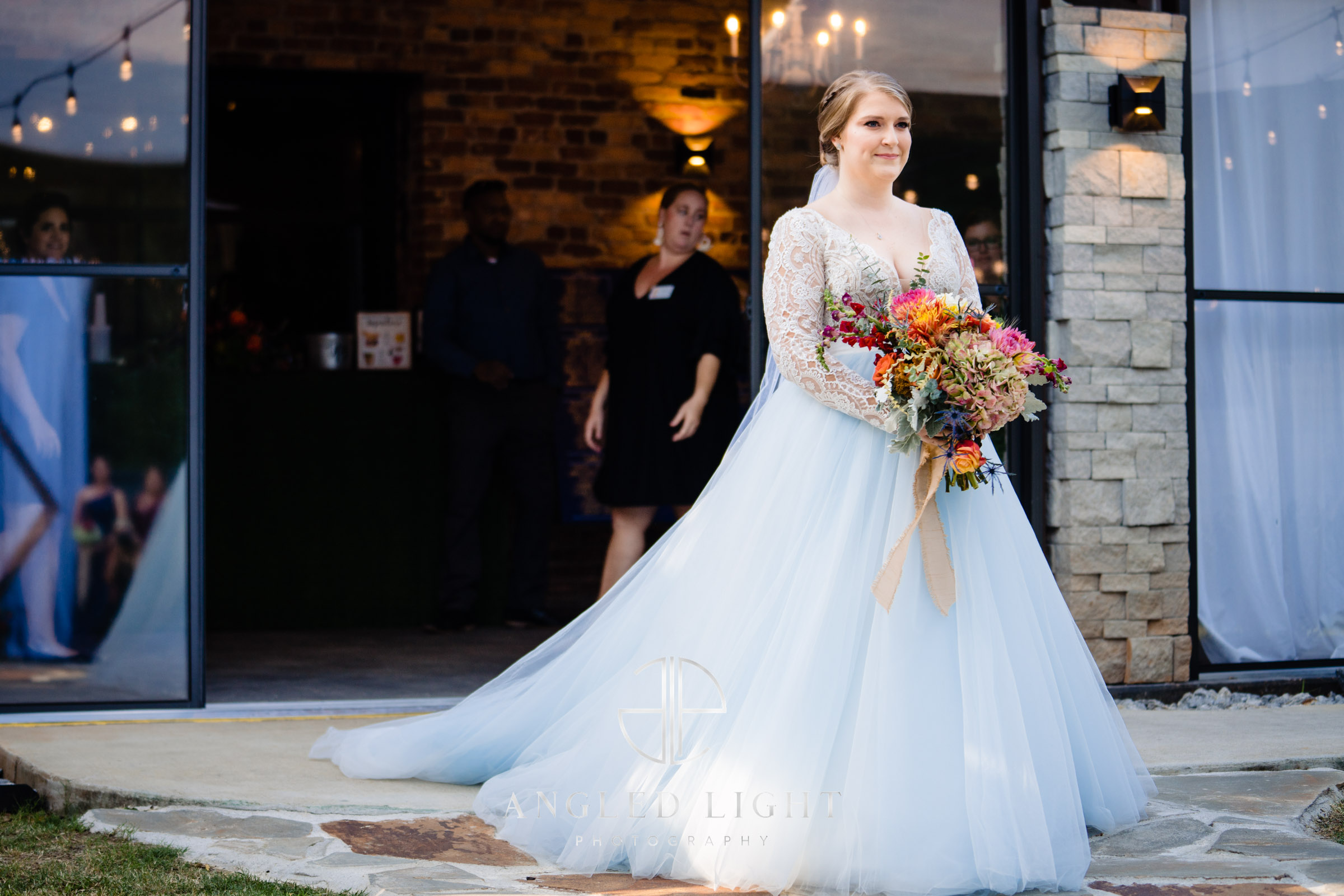 The Rutherford Greenville SC | The bride walking