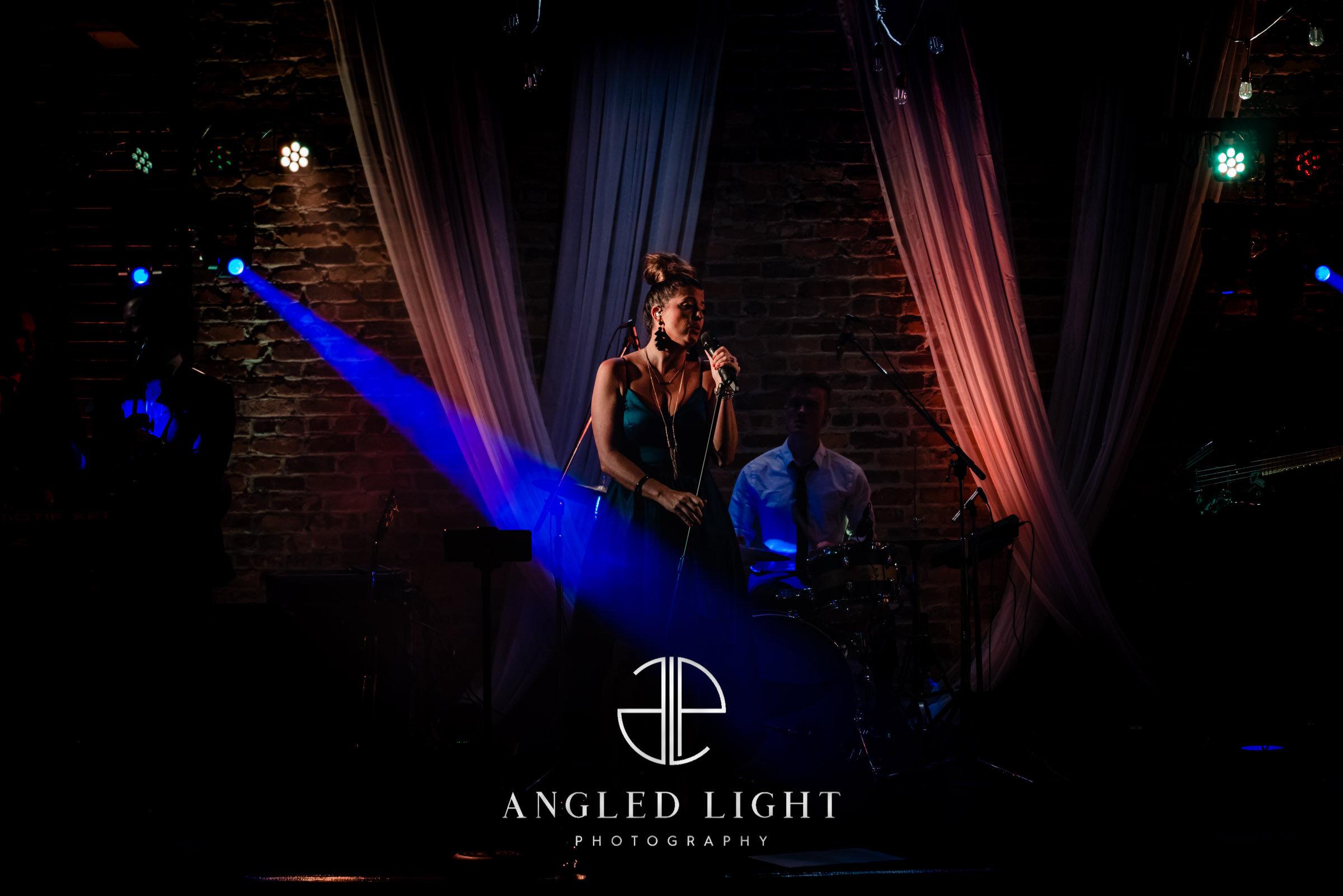 Wedding Reception Angled Light Photography