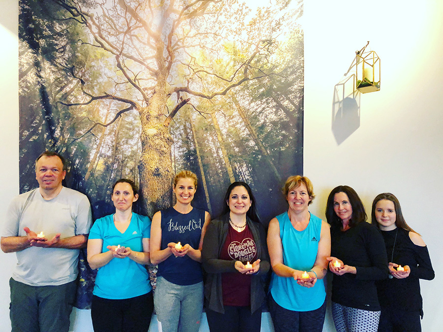 Our beautiful class at Grey Owl Mind-Body Studio