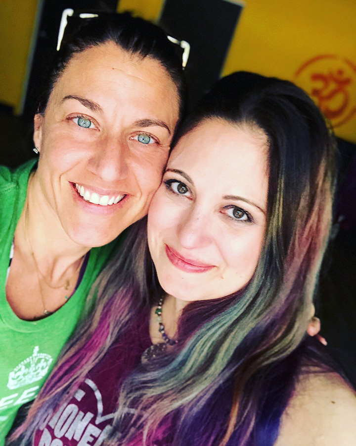 Me with Lindsay, owner of Out of the Box Yoga