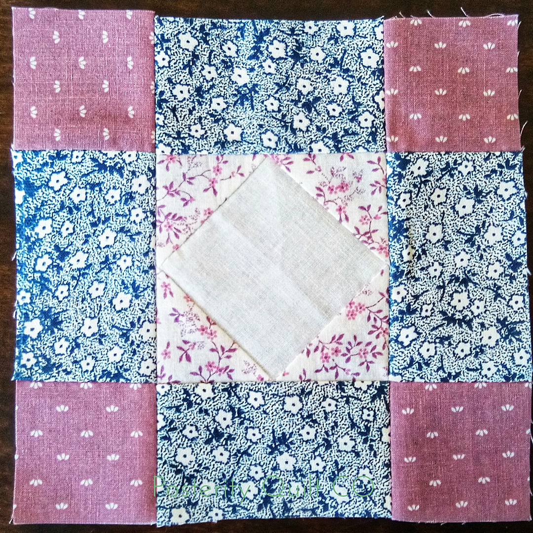 The Aunt block can be found on page 97 of the  1930's Farmer's Wife Sampler  (page 167 for piecing instructions.)