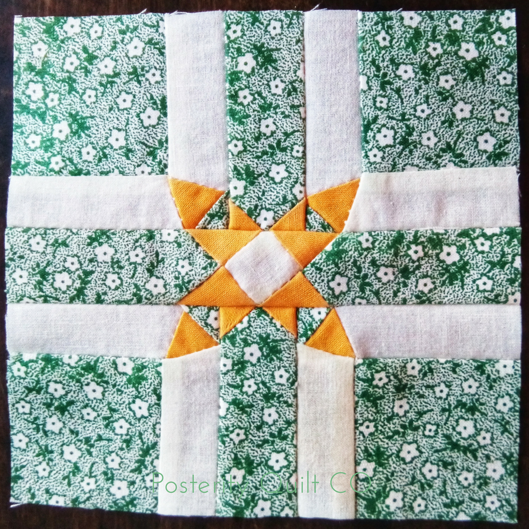 The Mother block can be found on page 156 of the  1930's Farmer's Wife Sampler  (page 224 for template instructions.)