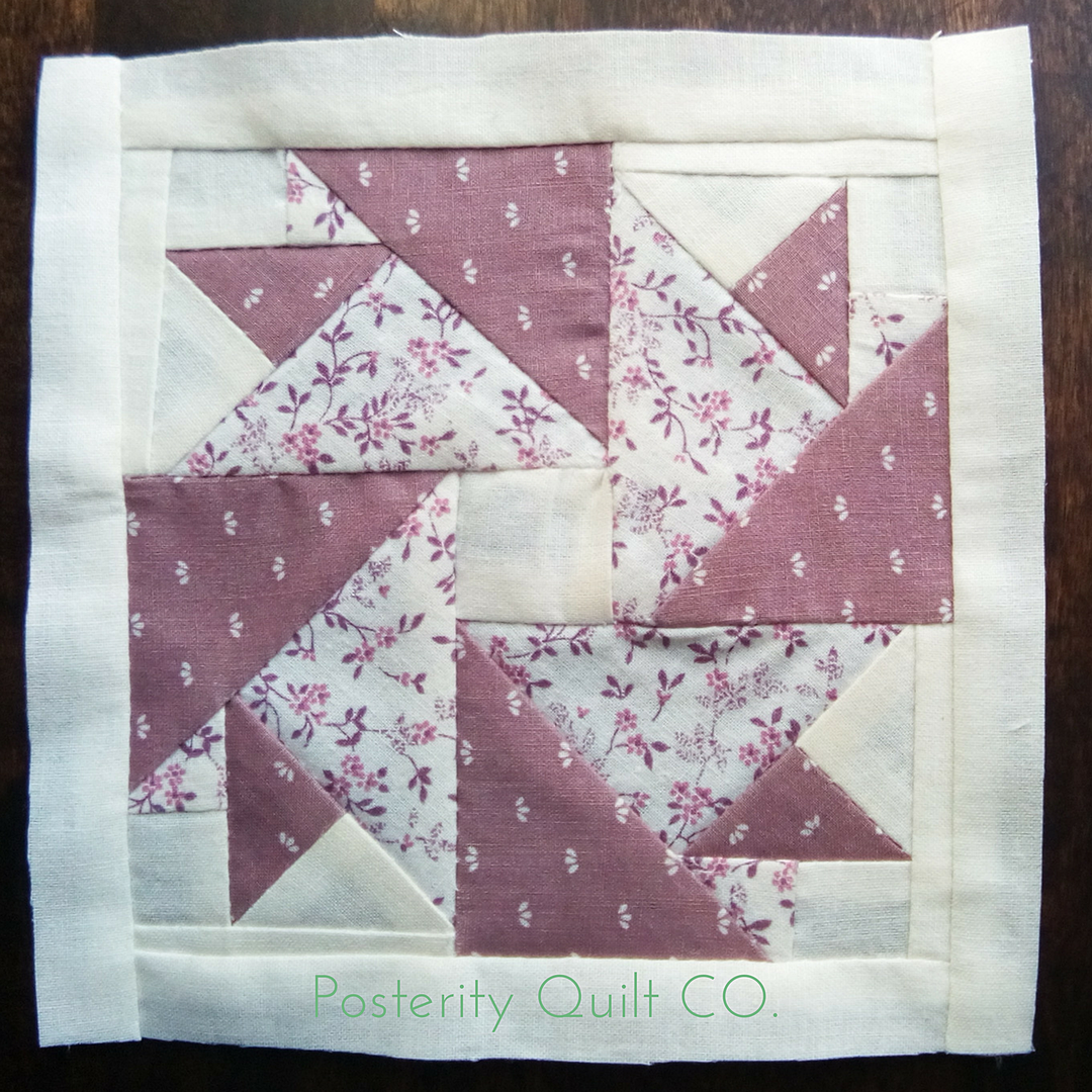 The Peony block can be found on page 145 of the  1930's Farmer's Wife Sampler  (page 240 for template instructions.)