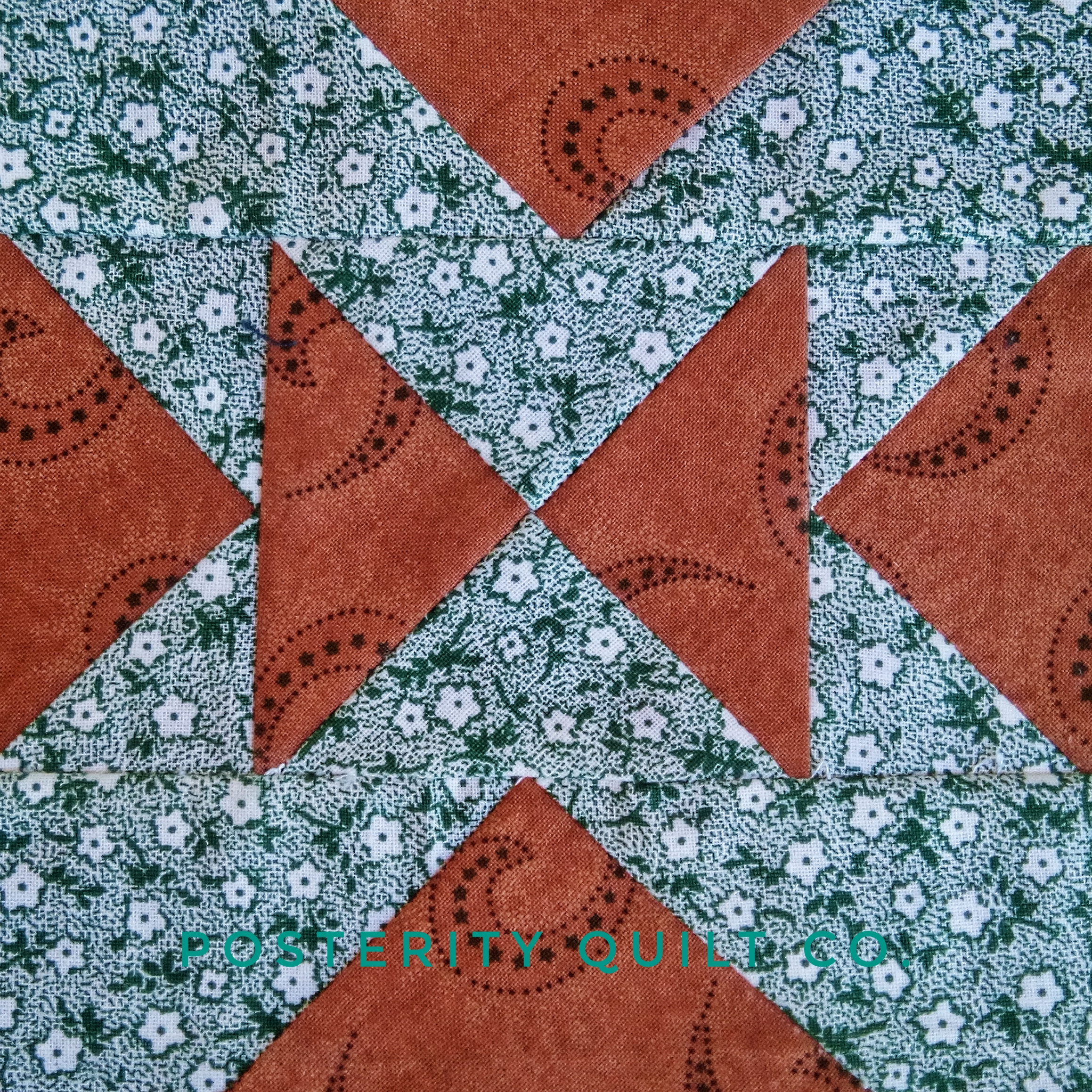 The Old Maid block can be found on page 84 of the  1930's Farmer's Wife Sampler  (page 237 for template instructions.)