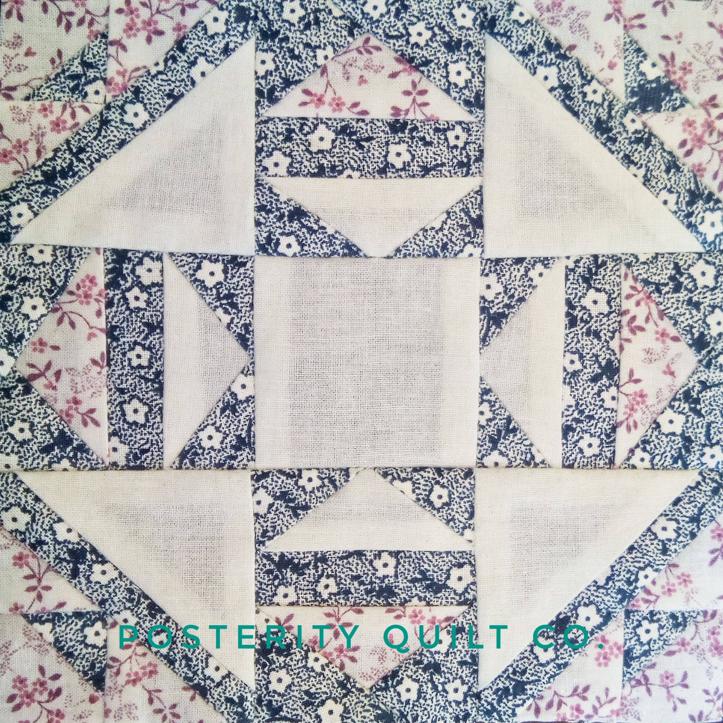 The Mollie block can be found on page 108 of the  1930's Farmer's Wife Sampler  (page 222 for template instructions.)