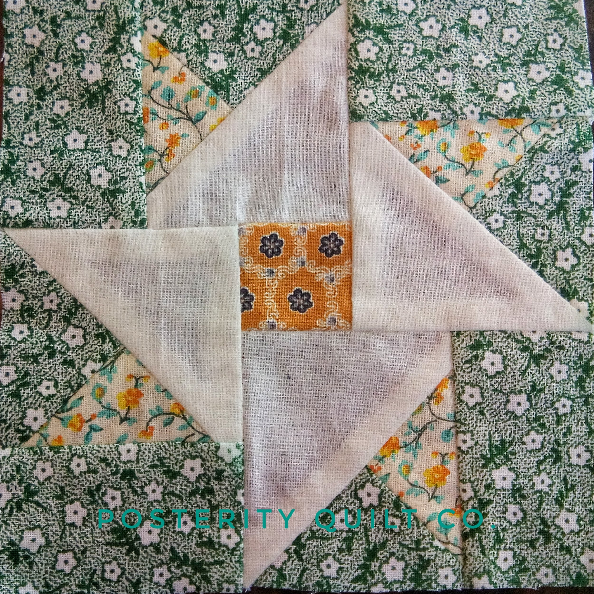 The Hope block can be found on page 128 of the  1930's Farmer's Wife Sampler  (page 202 for template instructions.)