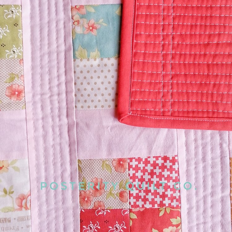 Ms. K's Baby Quilt - 4 Patch Crib Quilt
