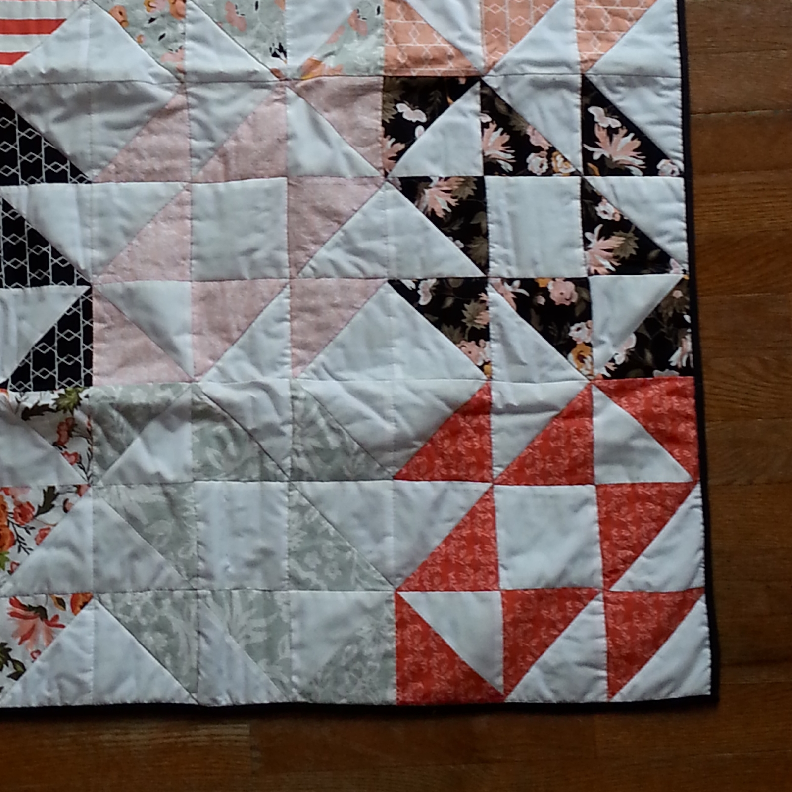 Ms. L's Baby Quilt - Squash Blossom Quilt