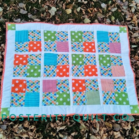 Mr. A's Baby Quilt - 4 Patch Quilt