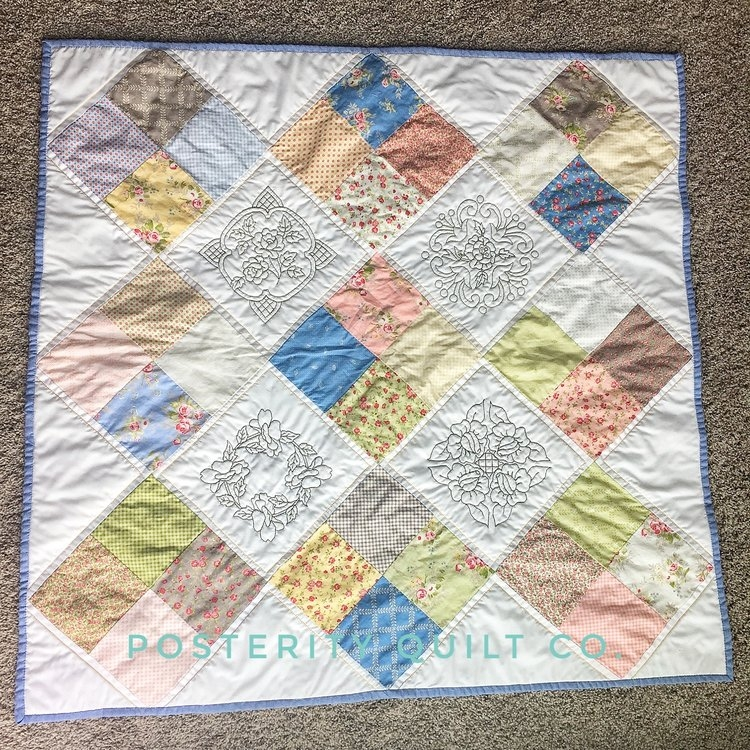 Ms. K's Baby Quilt - 4 Patch Quilt
