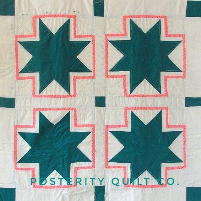 Teal Star Baby Quilt