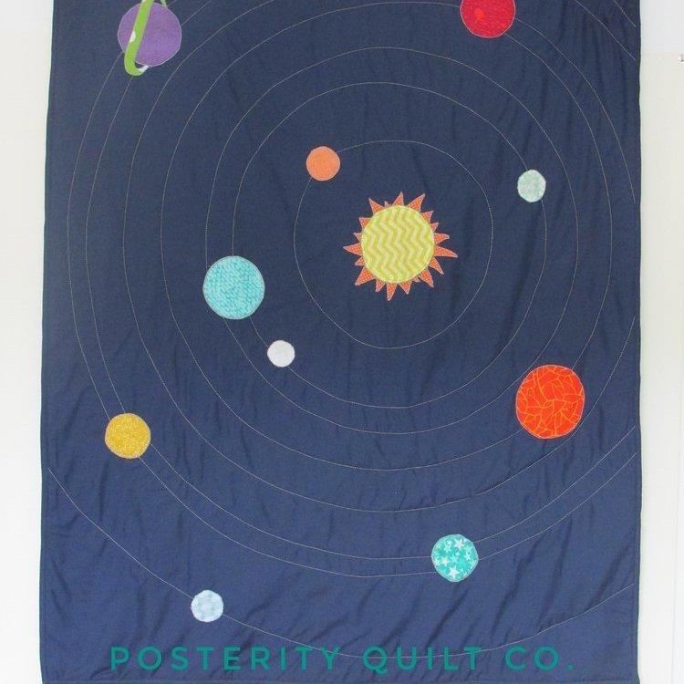 Mr. R's Baby Quilt - Space Quilt