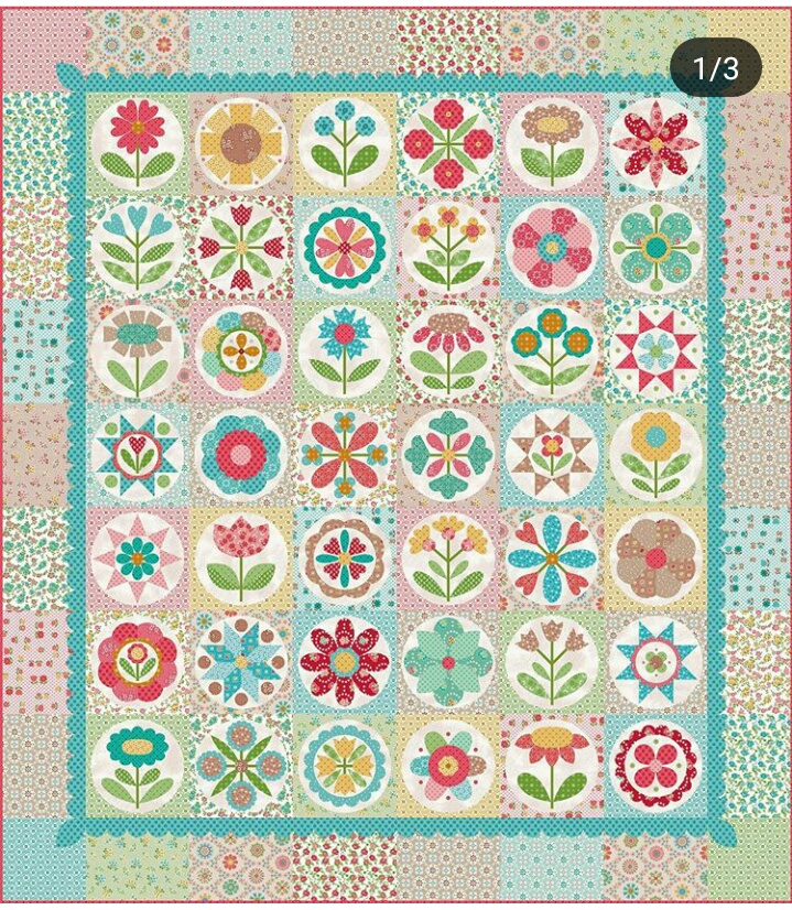 This is Lori Holt's original design. If you're interested in purchasing the kit or the templates for this pattern you can find that information either on her website  HERE , or I'm sure your favorite local or digital quilt store can help you out.