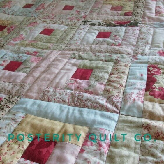 Ms. Bs Baby Quilt - Log Cabin