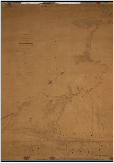 New Zealand Company Rural Sections Map