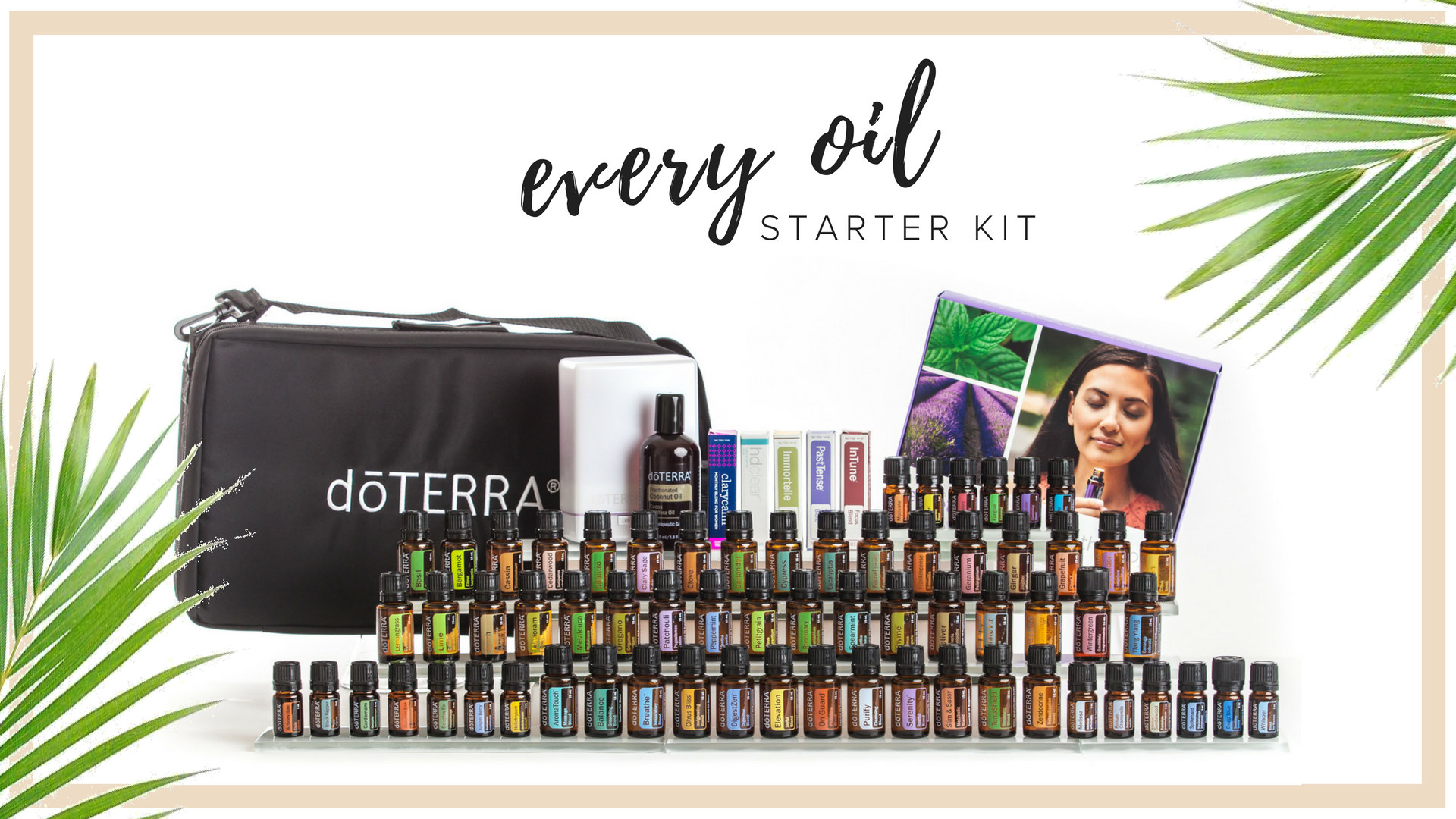 EVERY OIL KIT - $1,825   This kit Contains every single oil that doterra sources, so if you are one of those people who needs to have every single oil so you can hit the ground running and make all the blends you've been reading about, this is the kit for you. You will also receive an 8 hour diffuser and a travel case to hold all your precious oils.   Retail Cost $2,433. Wholesale Kit Price $1,825. $600 in Savings plus you're eligible to receive an additional $200 in product credits when you place your 100 pv Loyalty Rewards order the following month and you jump on the Fast track at 20% rebate on loyalty orders.  all new memberships include Exclusive aila love welcome gifts, a personal consultation with maile, ongoing education opportunities & a support community.