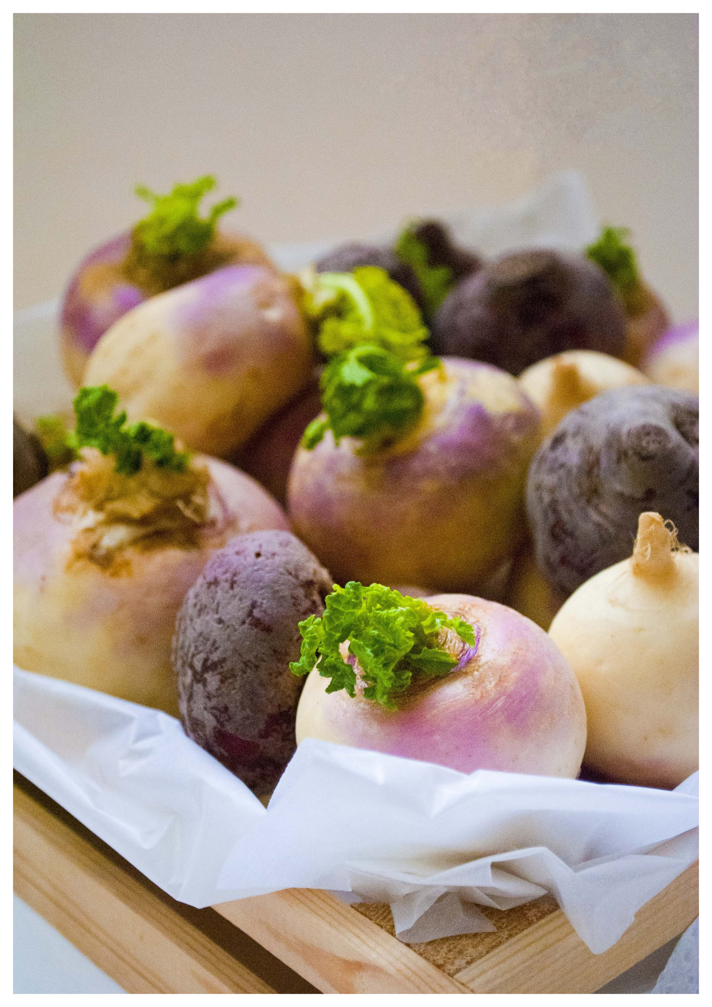 Turnips in a box