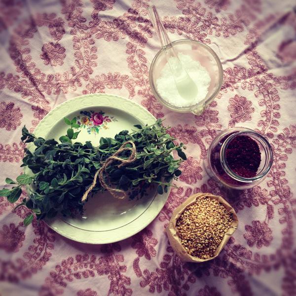 Za'atar Ingredients - web