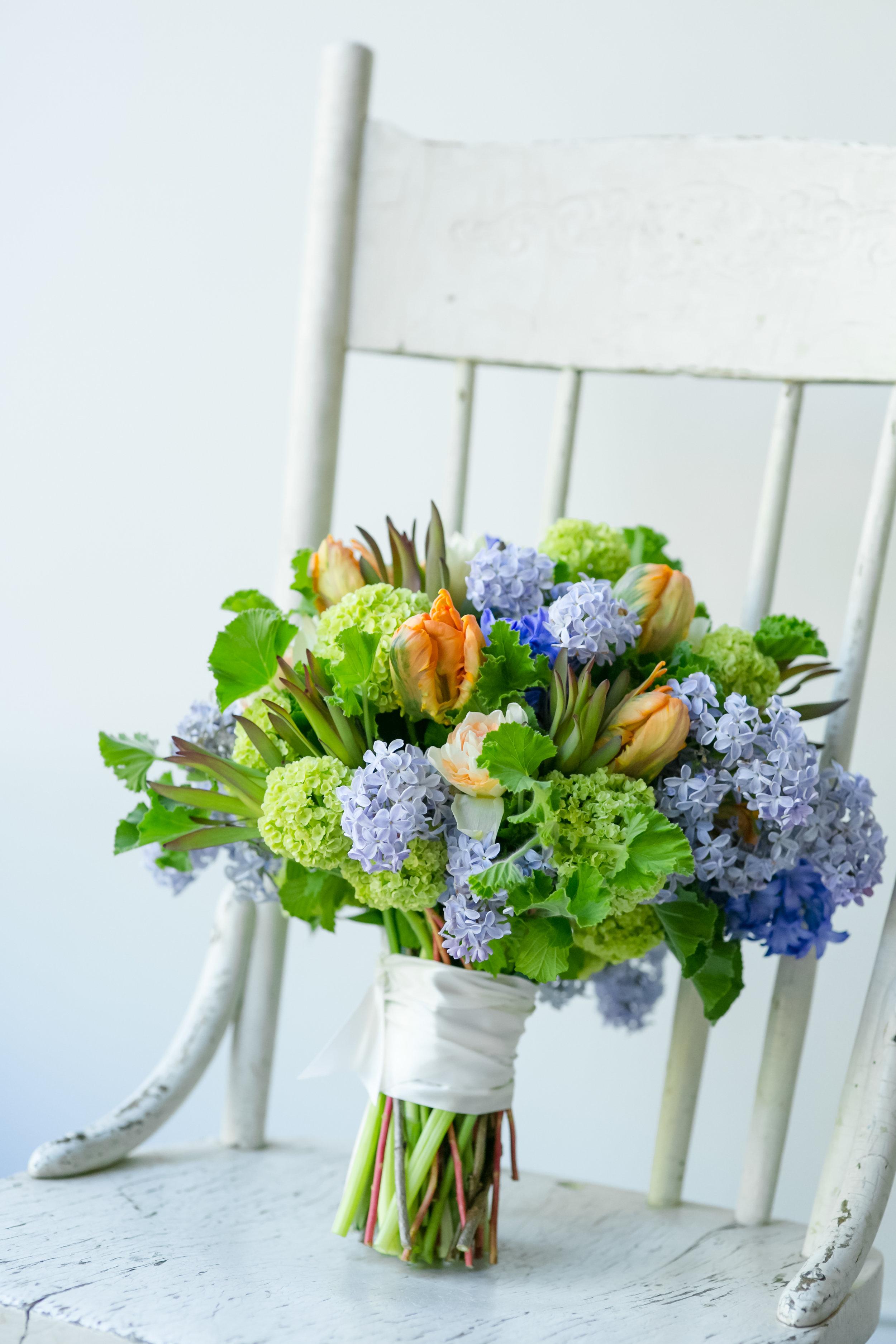 Bright, orange, purple, lavender, green bridal bouquet  Jessica Wonders Events, Minneapolis, MN