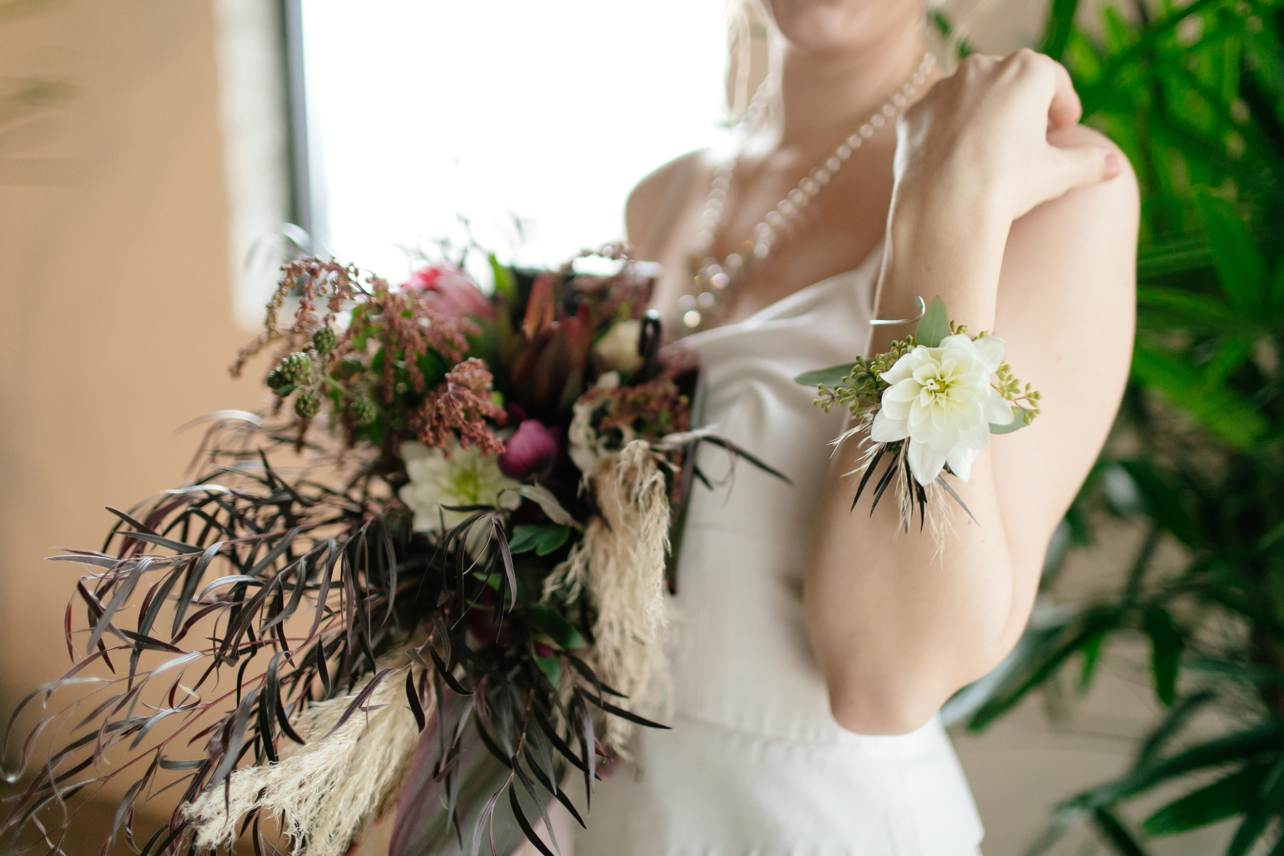Corsage, flower bracelet  Jessica Wonders Events, Minneapolis, MN