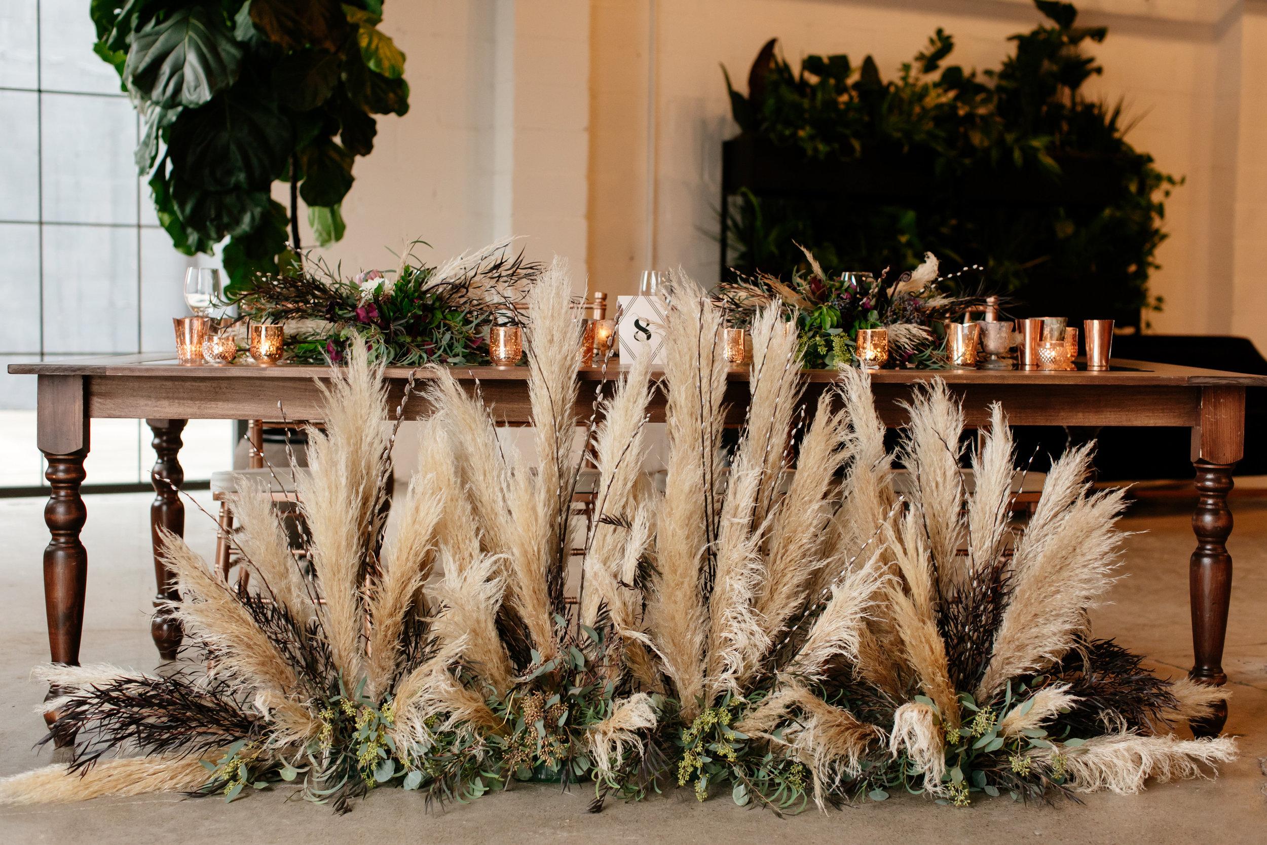 Floral installation, wedding flower decorations,  Jessica Wonders Events, Minneapolis, MN