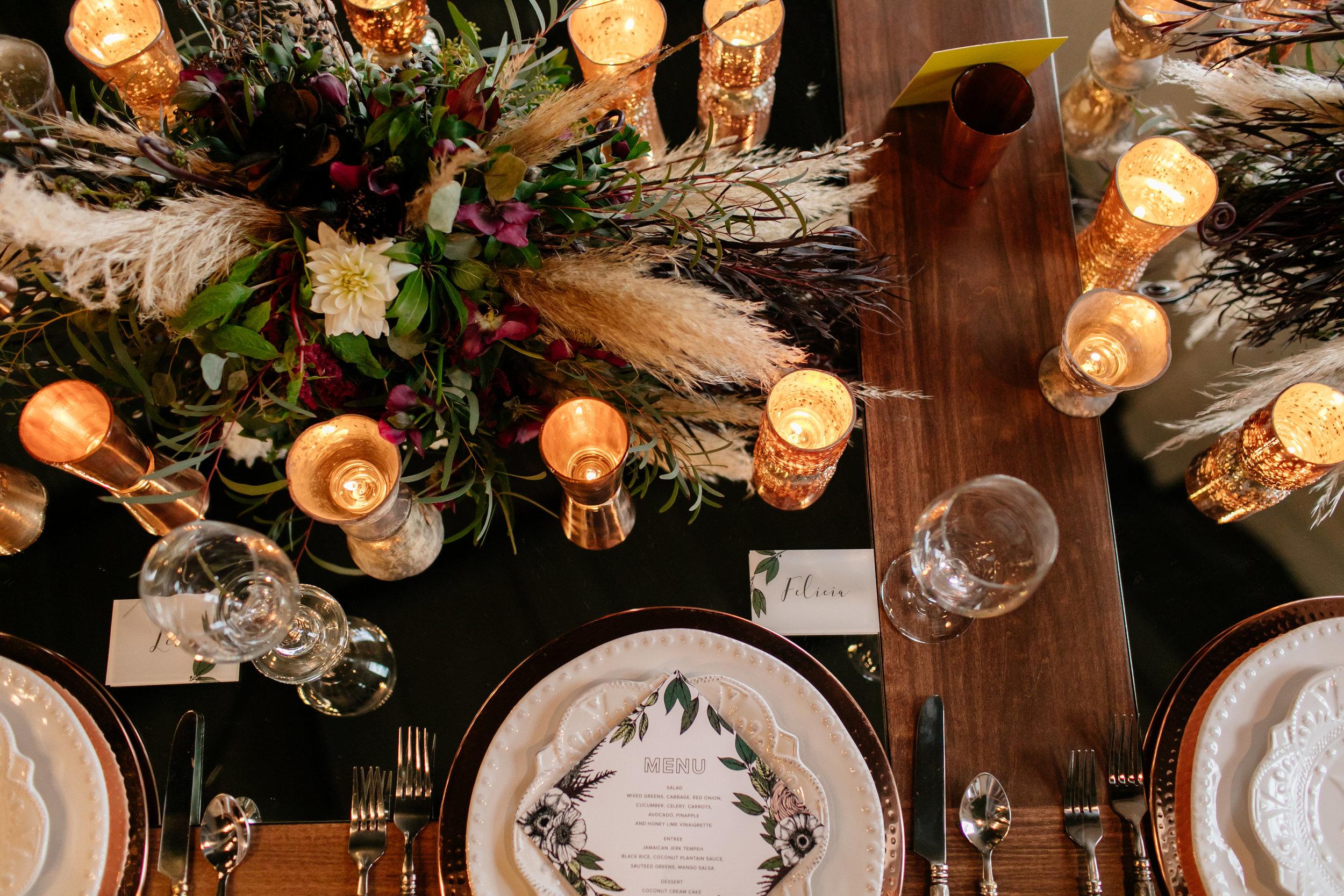 Romantic wedding centerpiece  Jessica Wonders Events, Minneapolis, MN