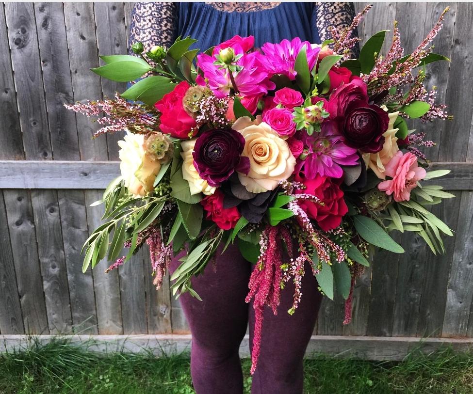 Bright pink, fushcia bridal bouquet,  Jessica Wonders Events, Minneapolis, MN