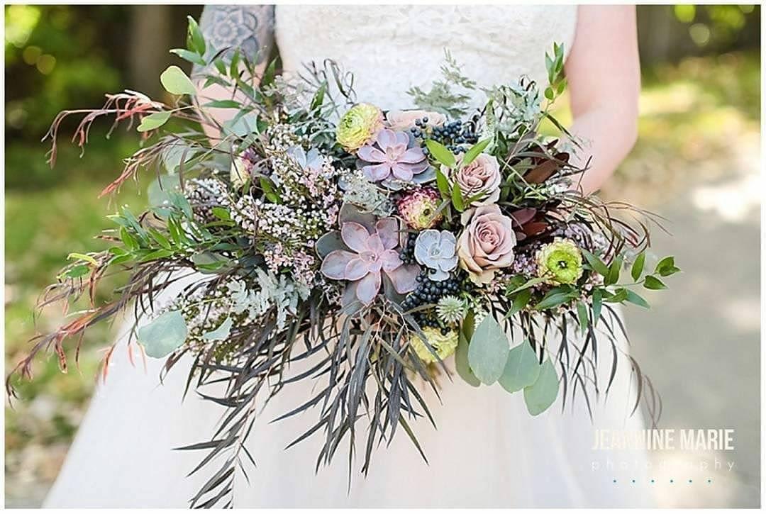 Lilac, lavender, light purple, succulents, bridal bouquetJessica Wonders Events, Minneapolis, MN