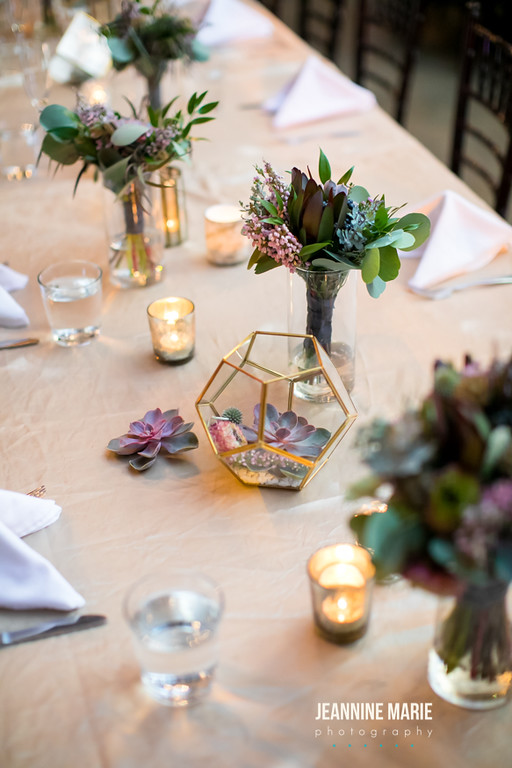 Gold geometric reception and head table decor  Jessica Wonders Events, Minneapolis, MN