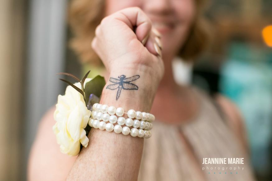 Pearl wedding corsage  Jessica Wonders Events, Minneapolis, MN