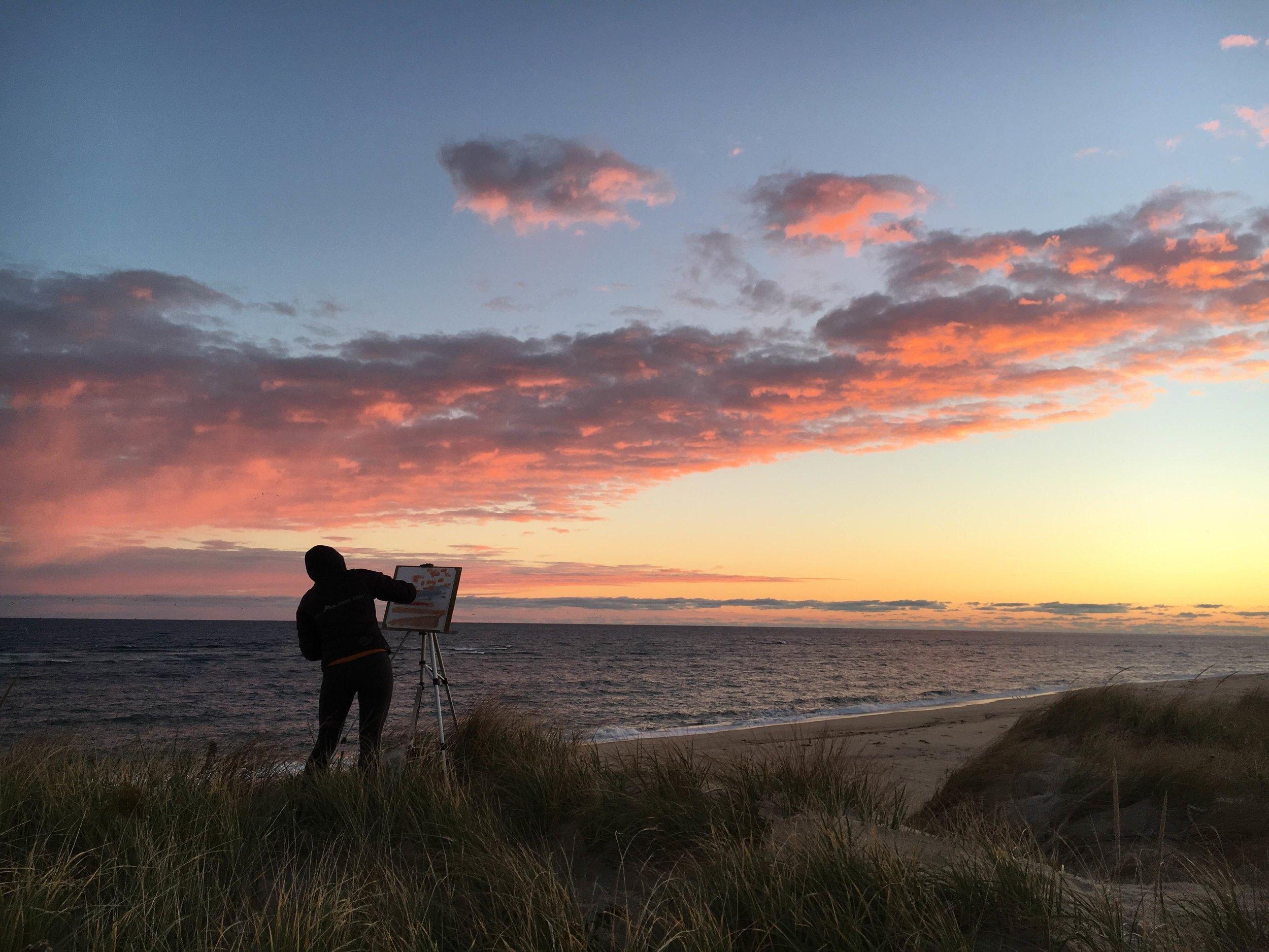Sunrise, National Seashore Artist Residency, North Truro, Massachusetts 2016