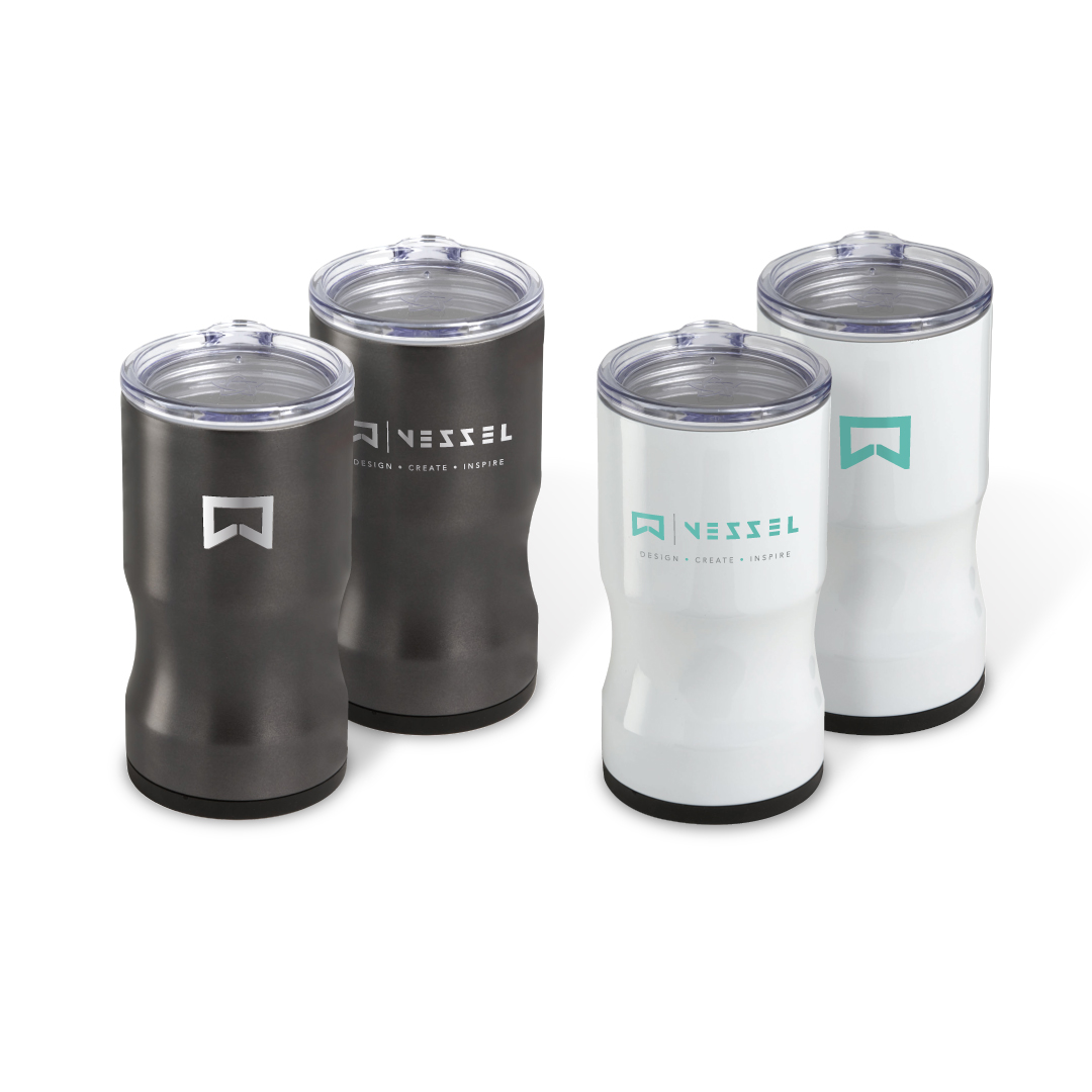 double wall stainless steel thermal CAN AND BOTTLE INSULATOR with copper vacuum insulation