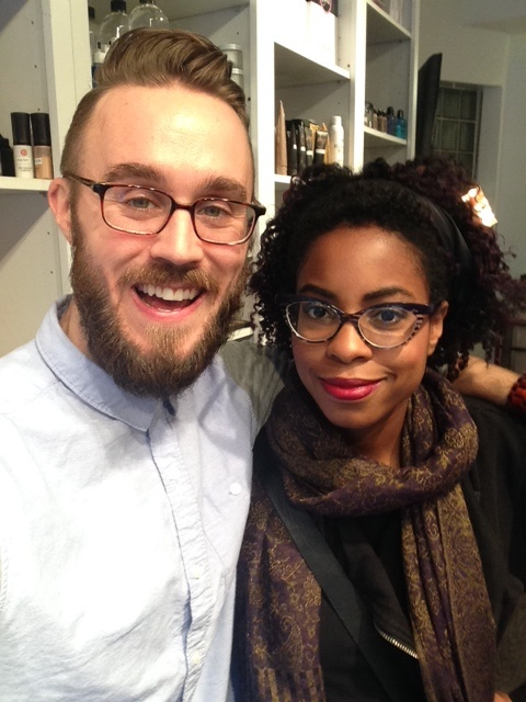 Jacob Hyzer Makeup Artist/ Alcone Co. Creative Director & I at Alcone Flagship NYC before he did a holiday lip demo on me. Follow him on  Instagram .