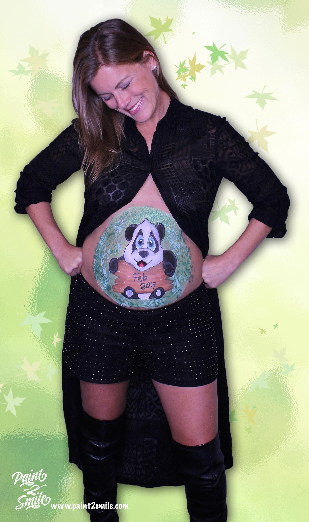 maternity photo panda