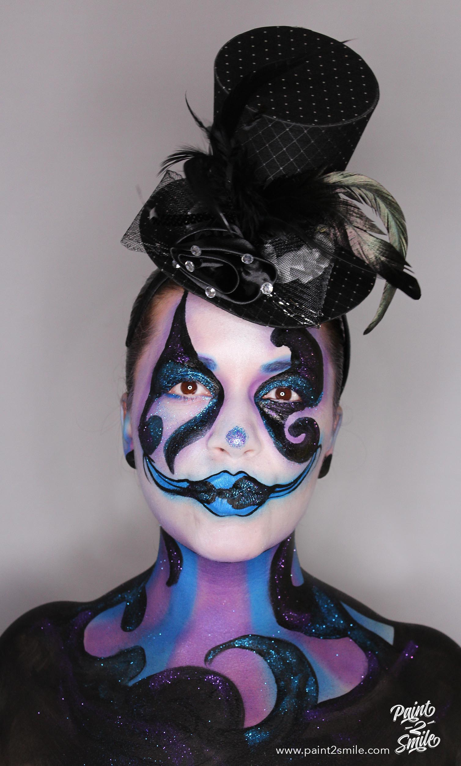 clown adult face painting