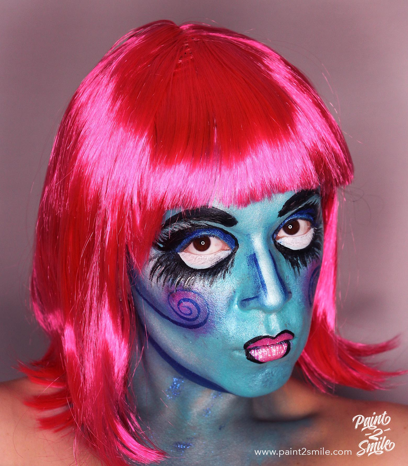 rag doll adult face painting