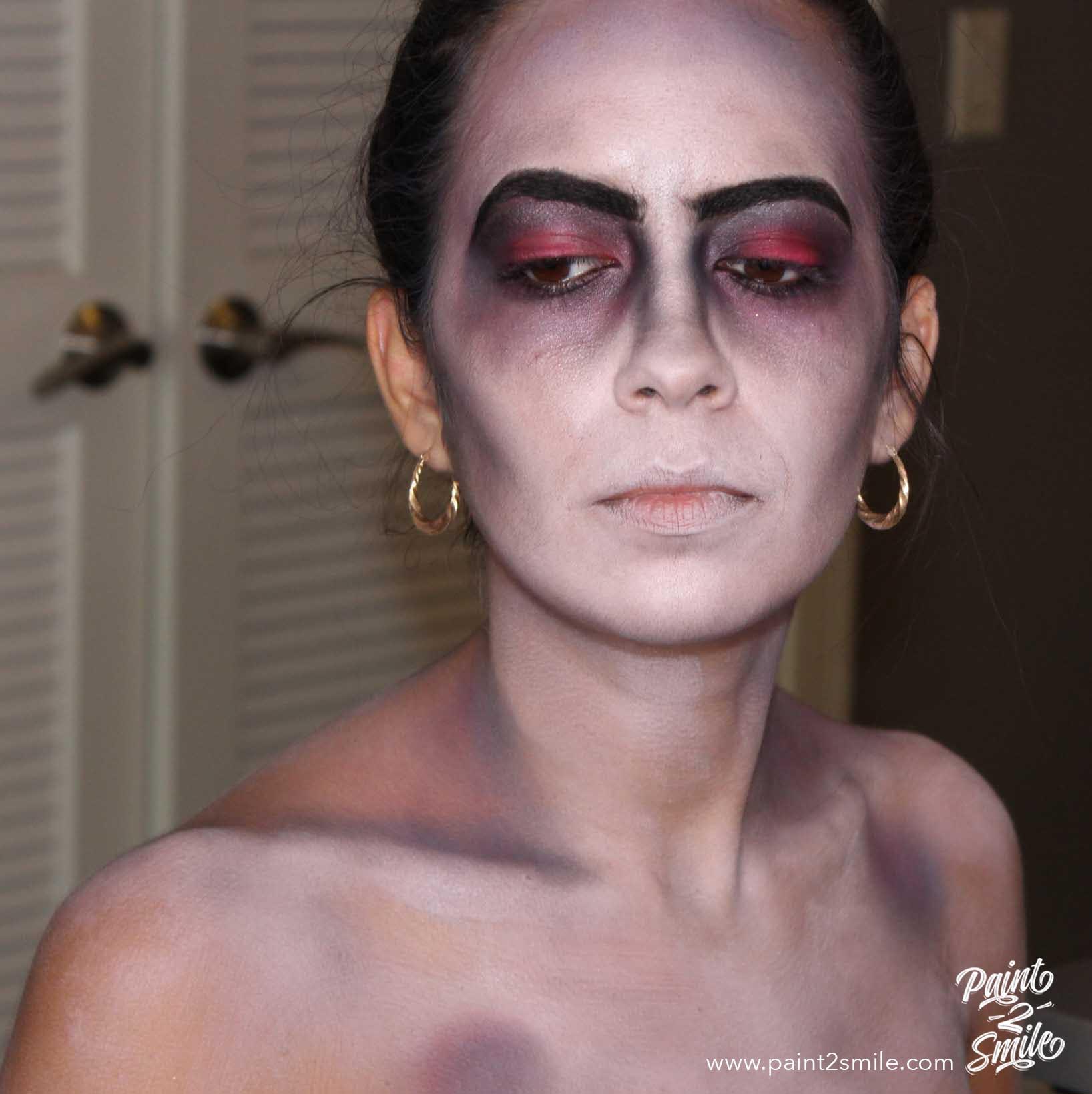 detail makeup dead bride