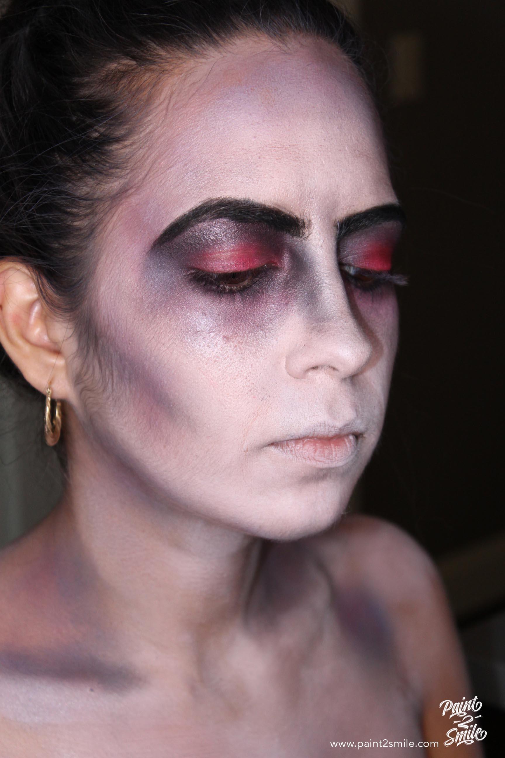 eye makeup dead bride