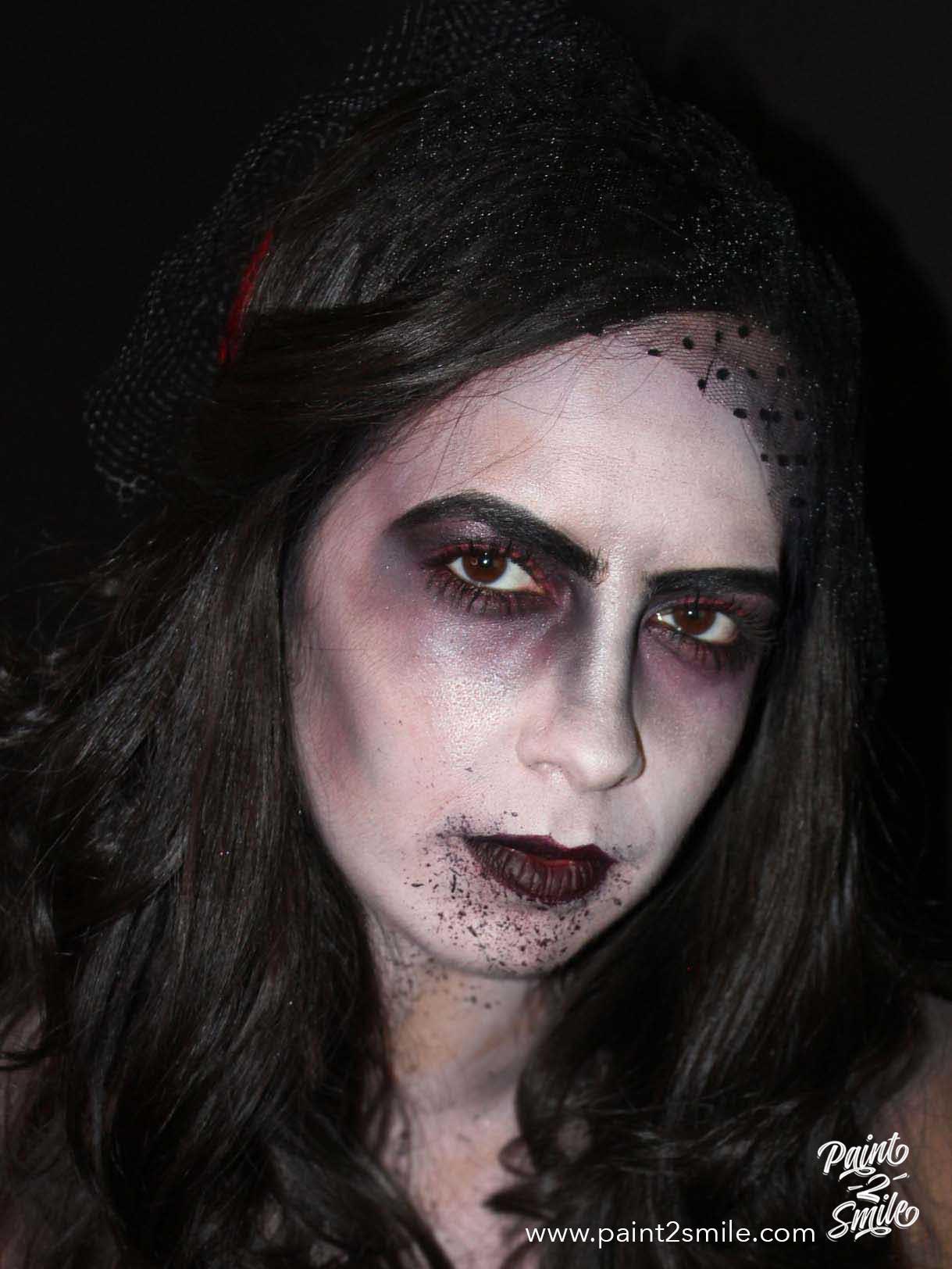 dead bride face paint