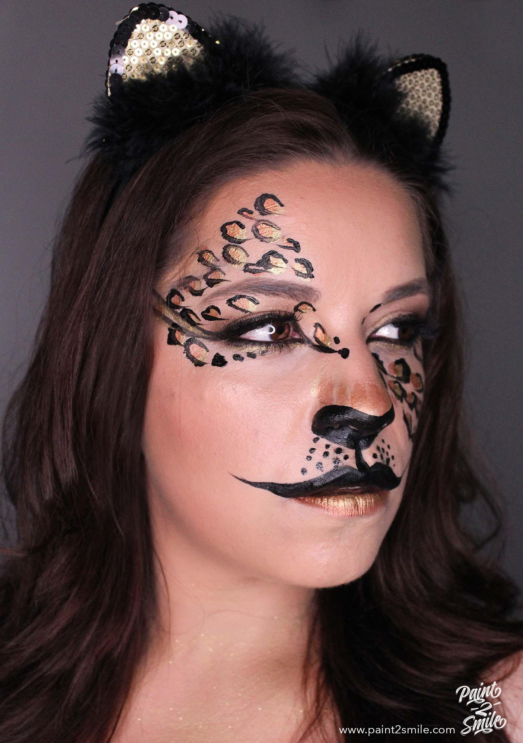 adult face paint cheetah