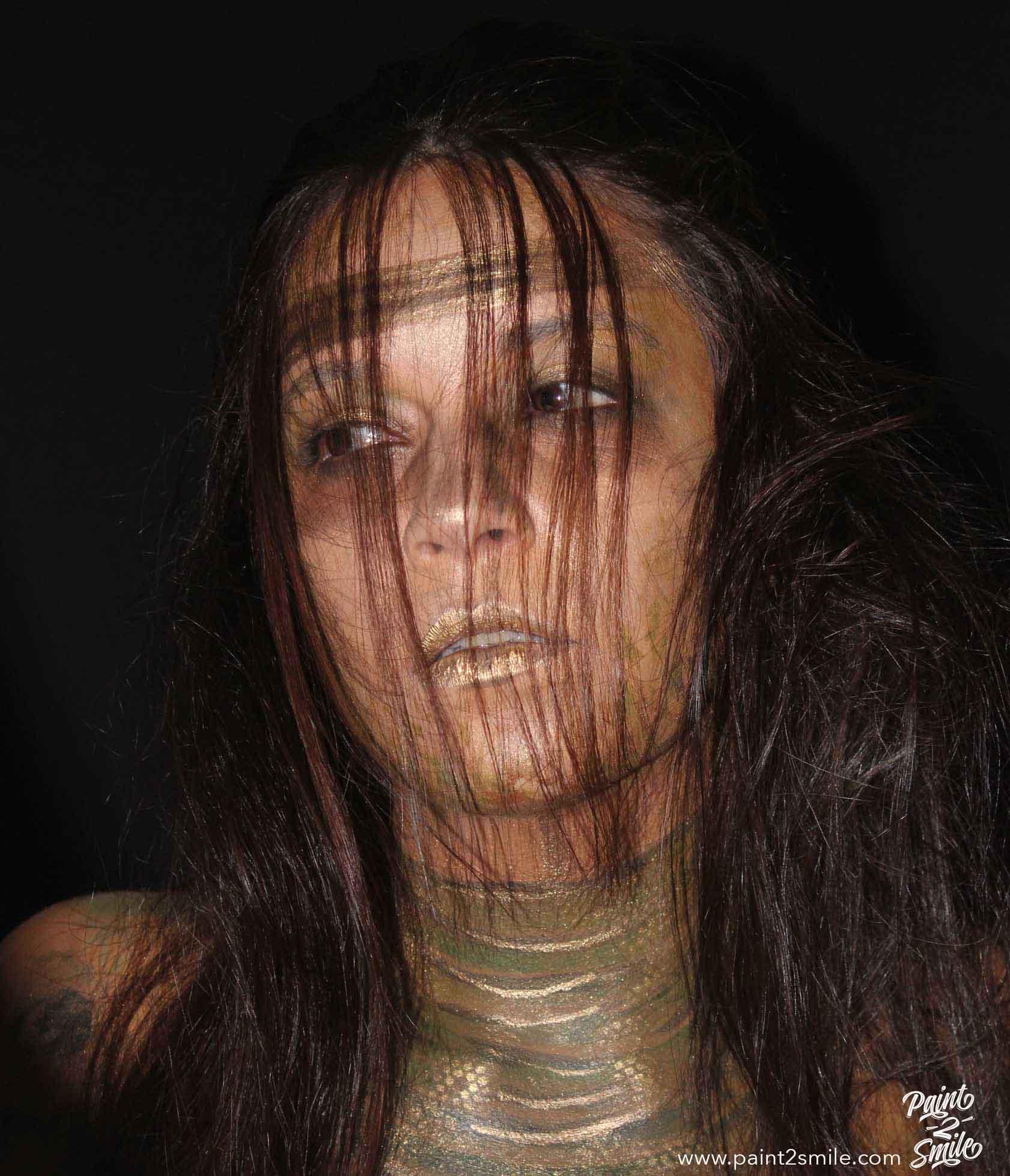 The echantress face paint