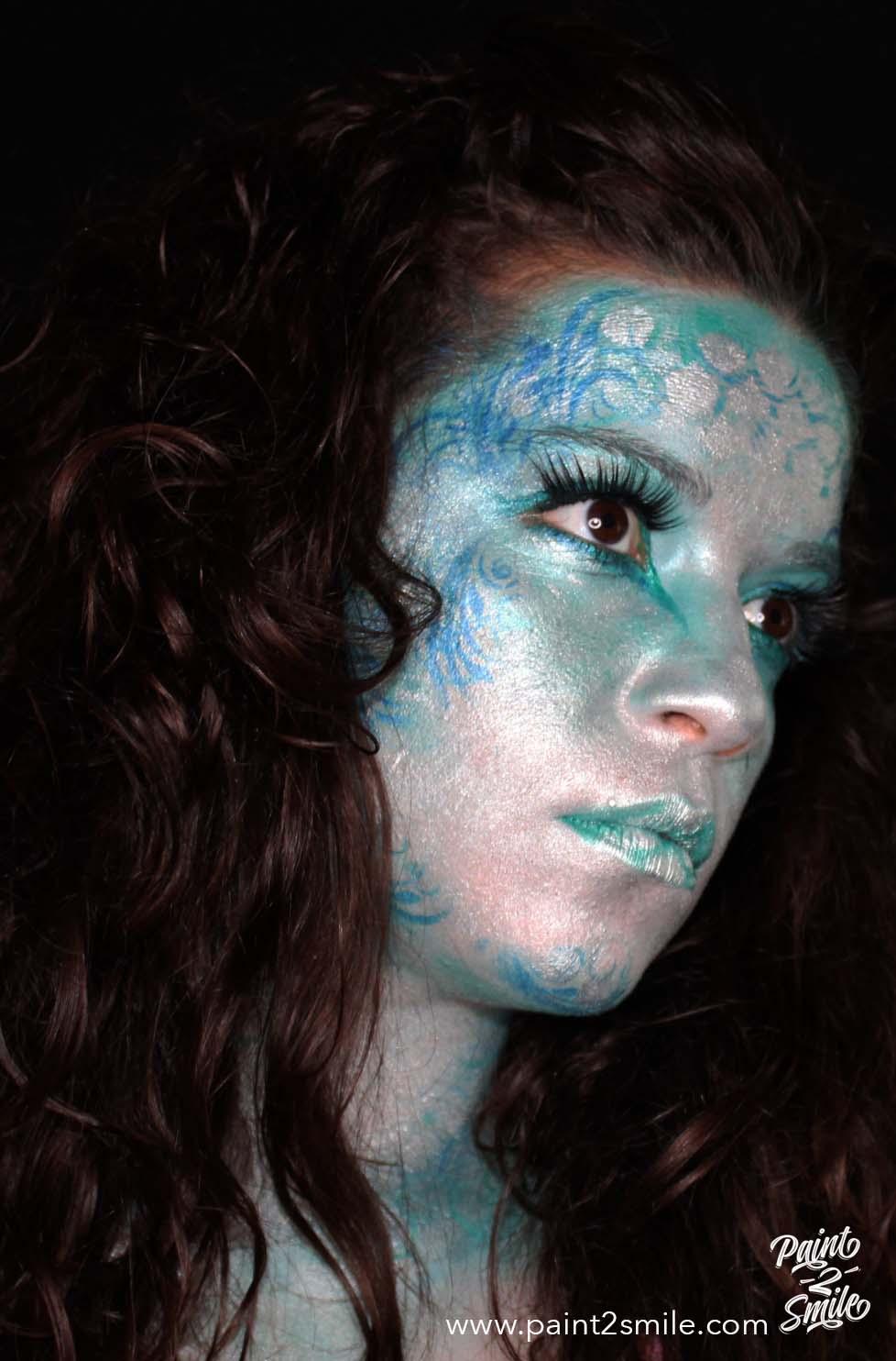 mermaid face paint