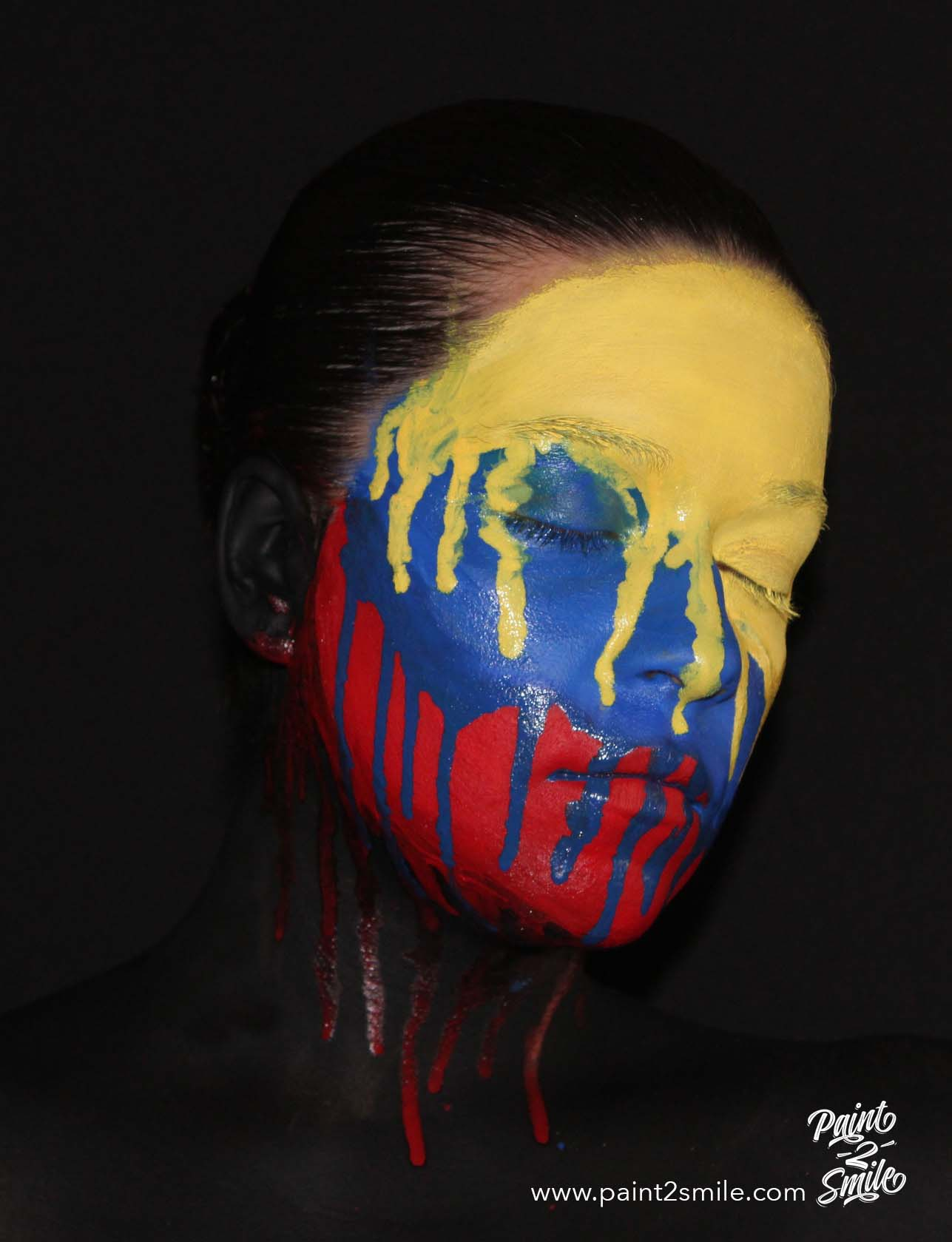 colombia face paint