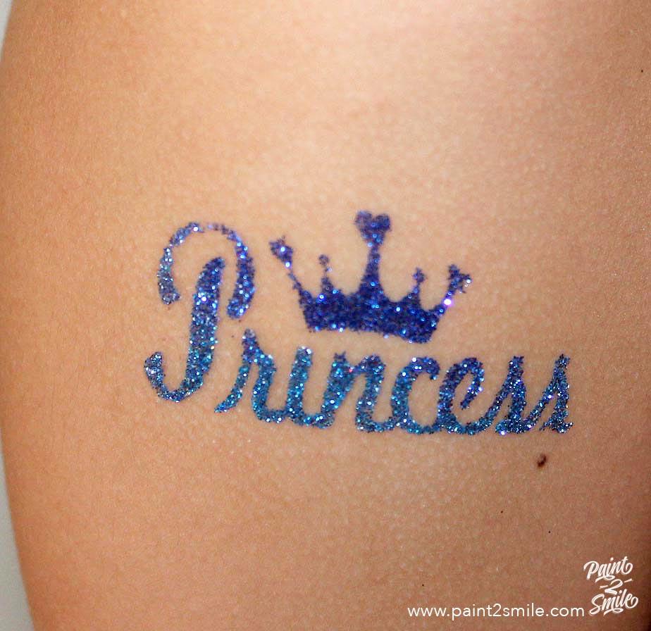princess glitter tattoo