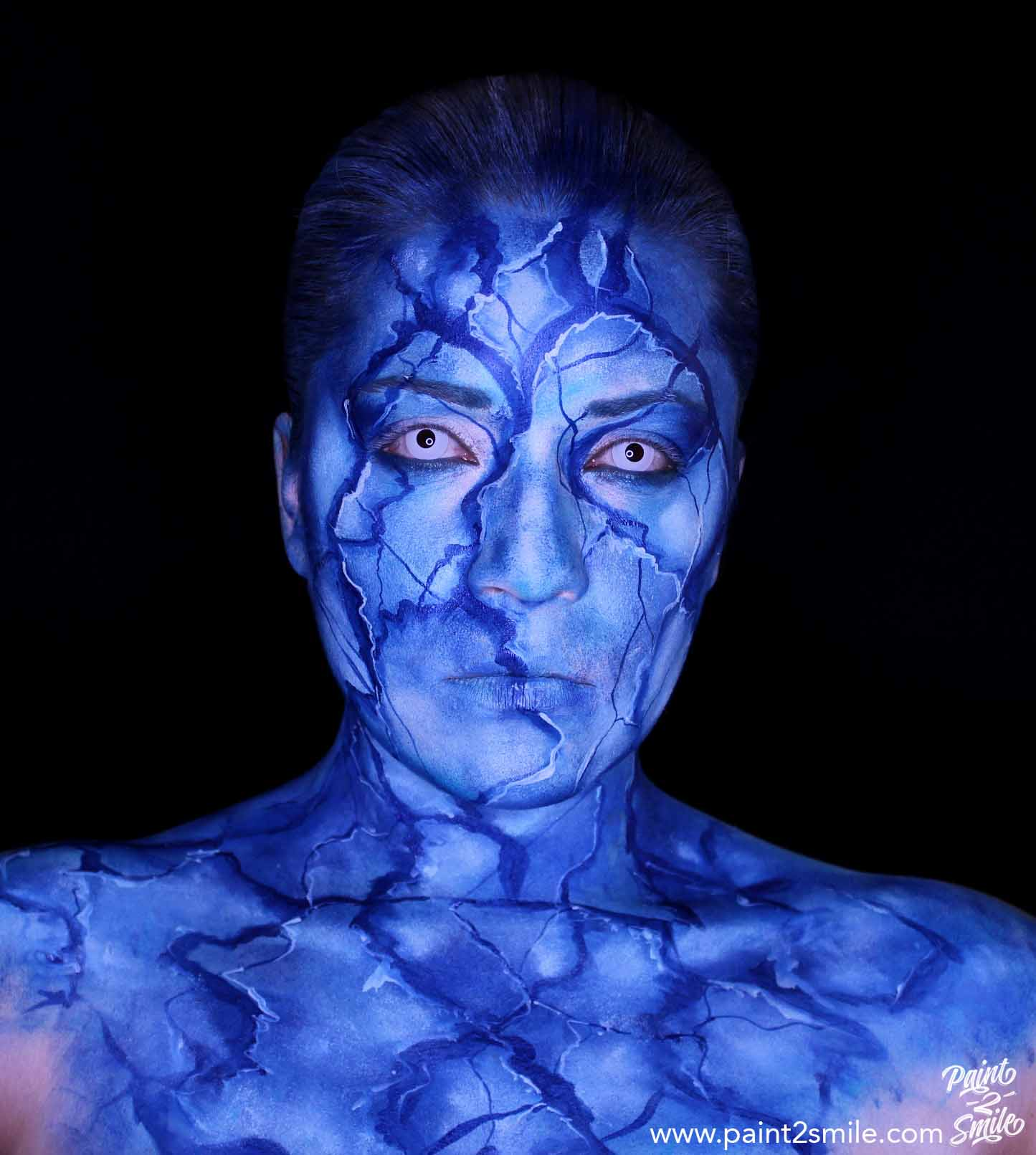 ice queen face paint