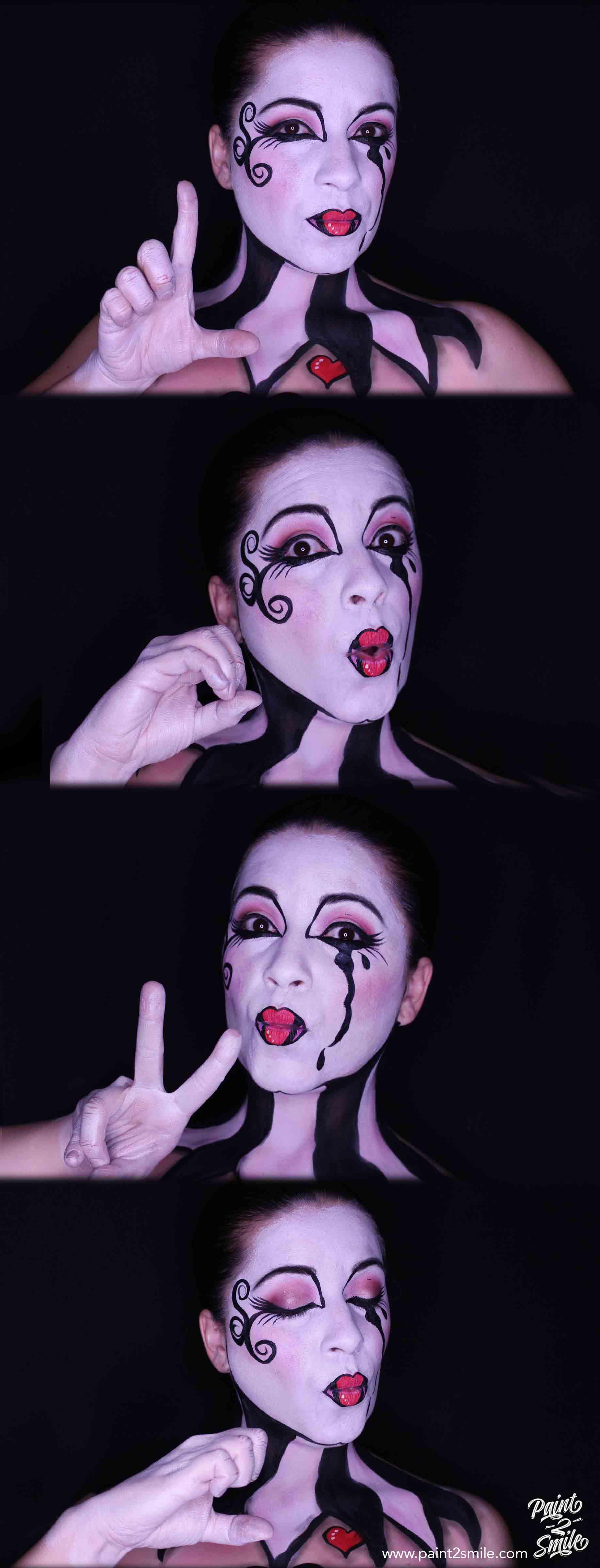 love adult face paint