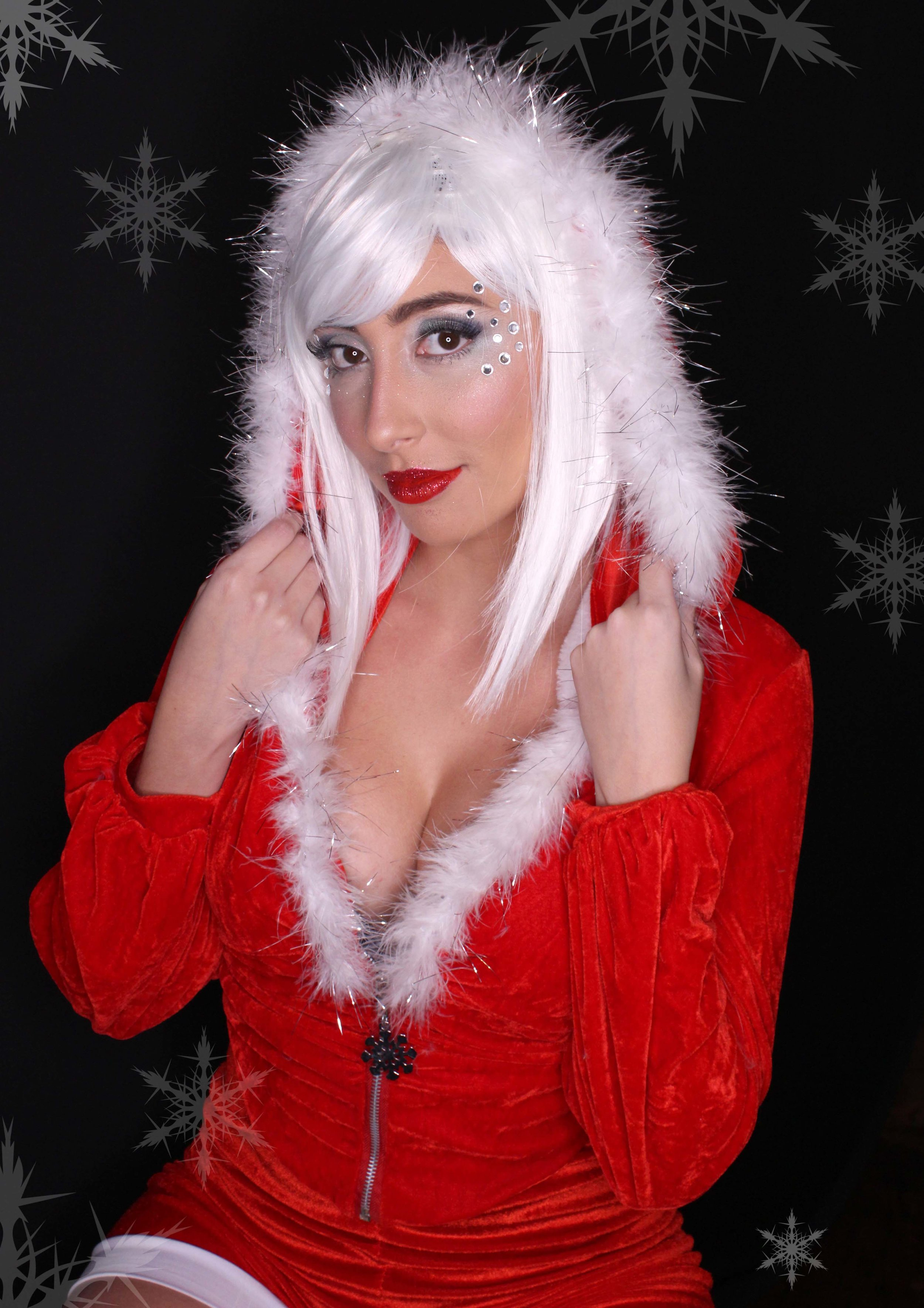 Mrs. Santa adult makeup