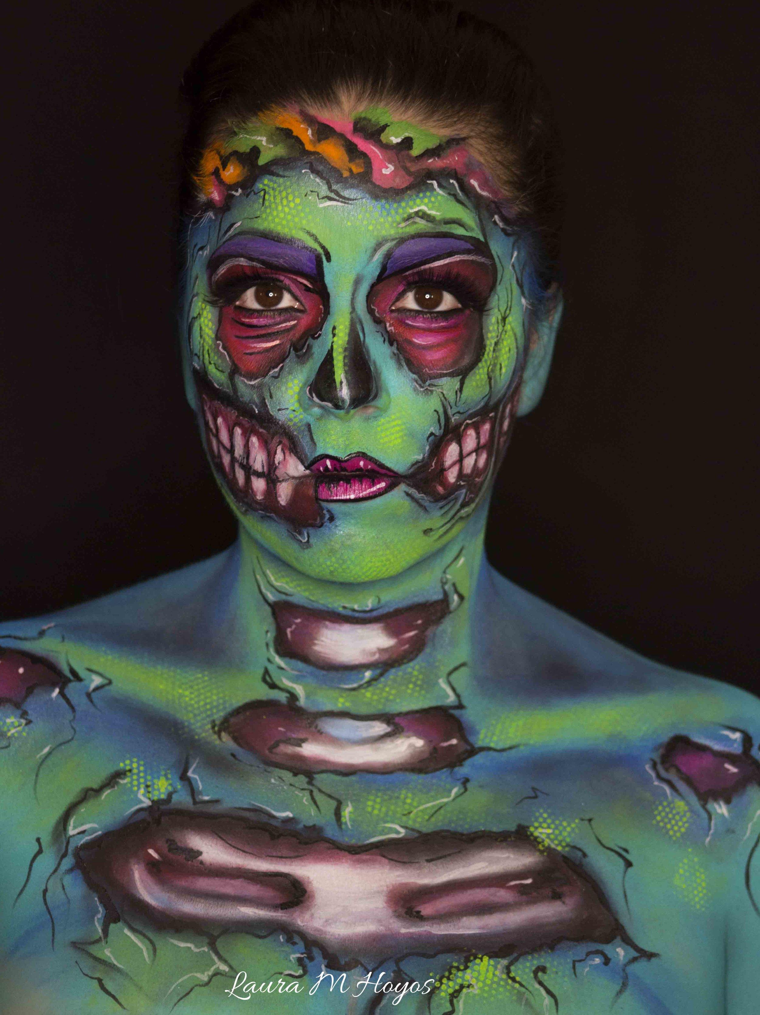 zombie face paintin
