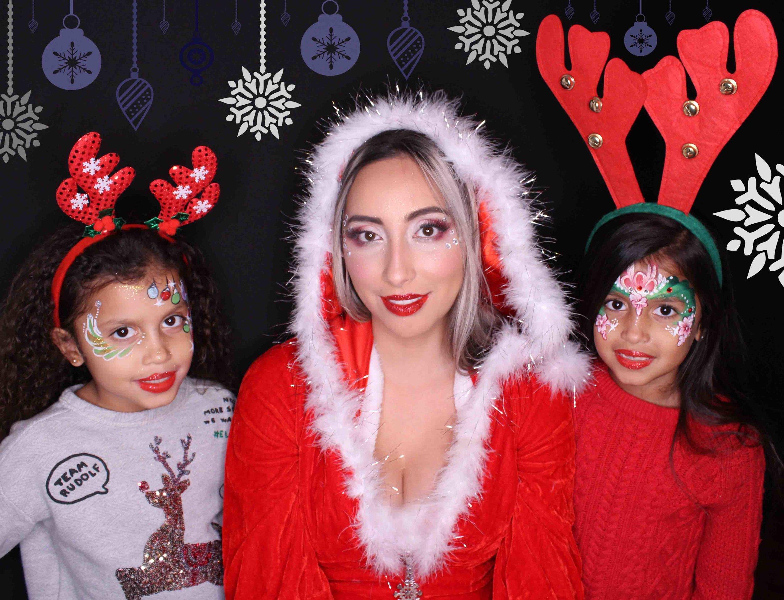 christmas family portrait face paint