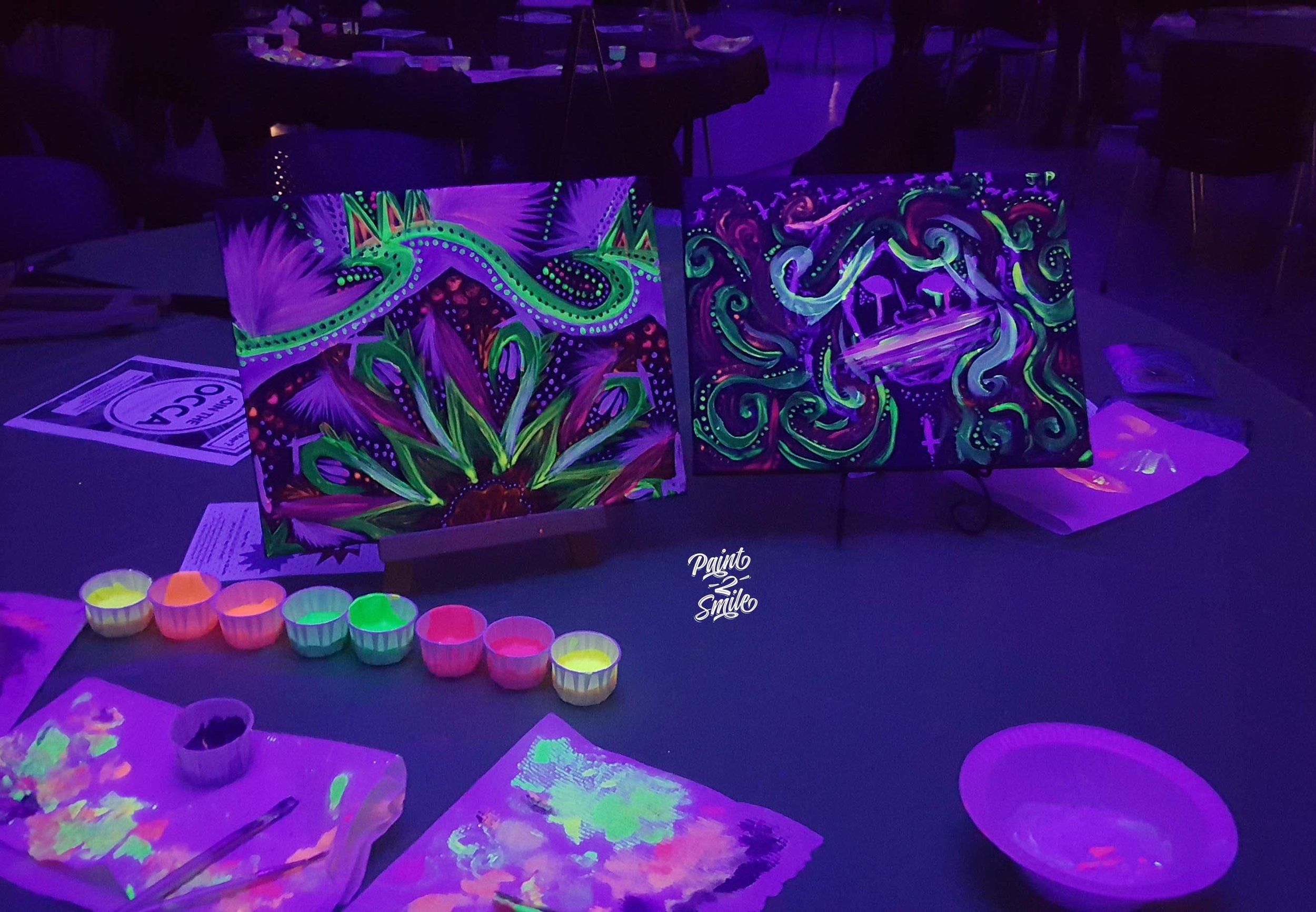 glow paint party